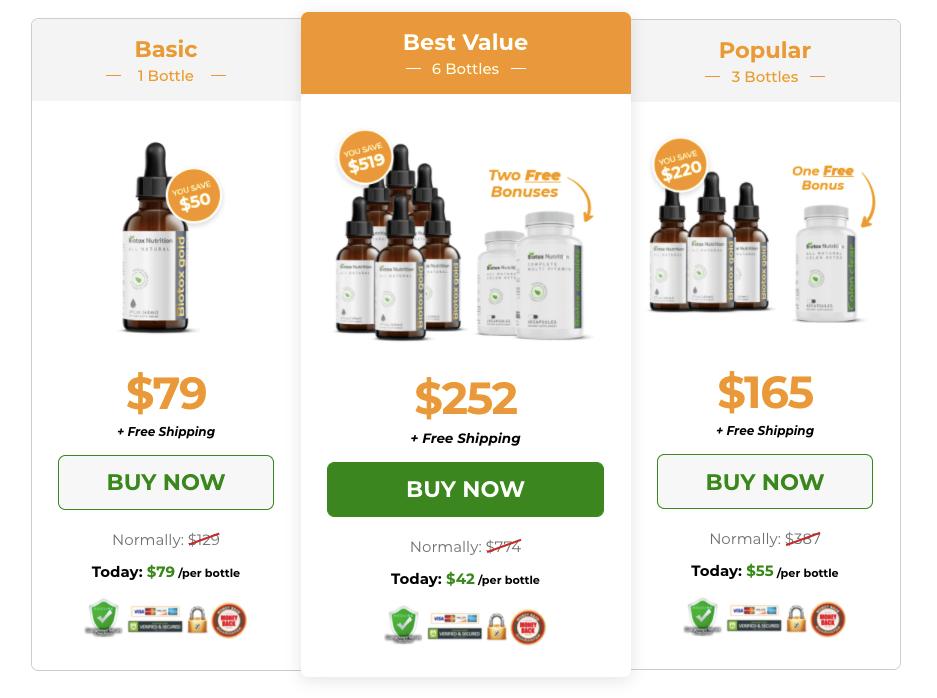 Biotox glod price