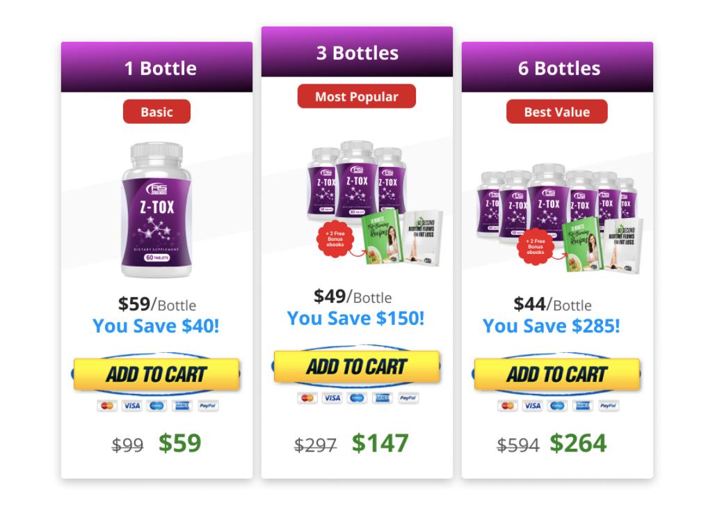 Z-Tox price