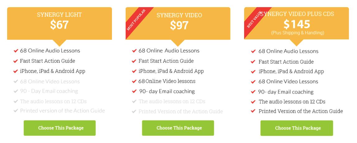 synergy spanish price